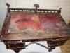 Реставрация стола с красным сукном