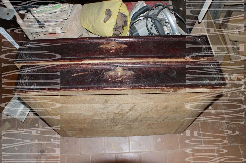 Реставрация ящиков дубового буфета.