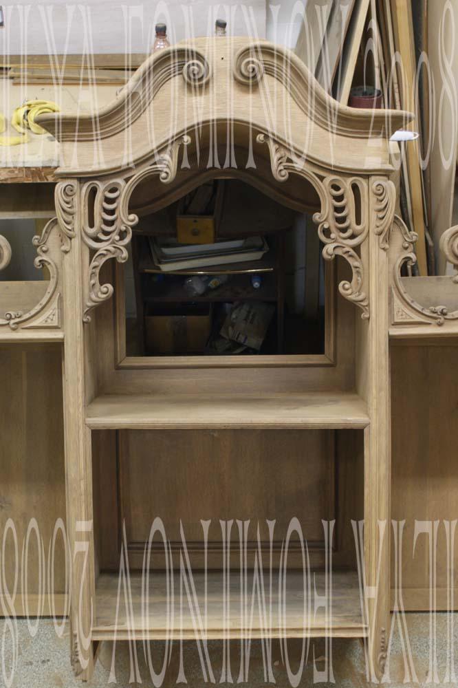 Подготовка центральной части буфета под окончательную отделку.