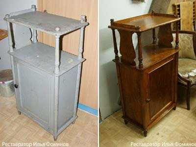 Реставрация старой этажерки