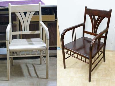 Реставрация простого гнутого кресла.