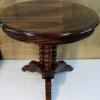круглый полированный стол