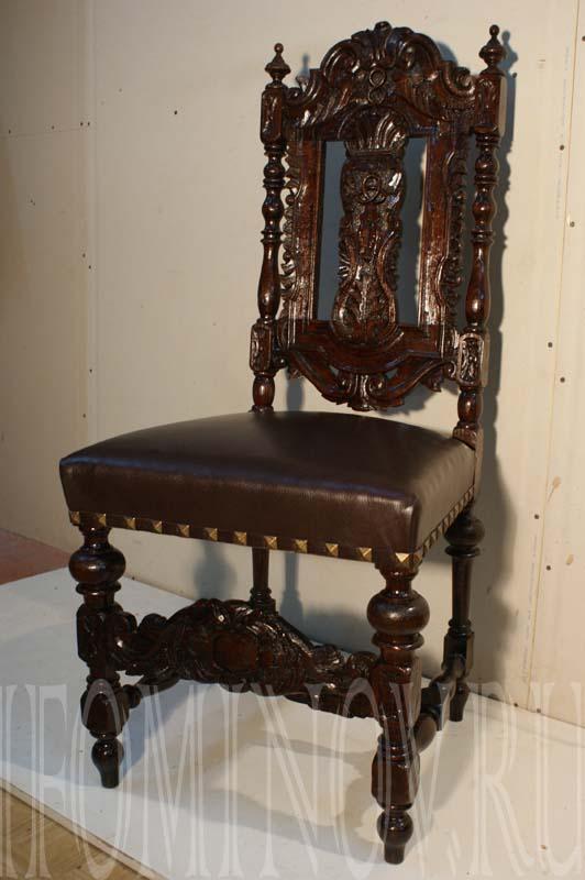 Реставрация дубового стула.