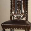 Резной стул после реставрации.