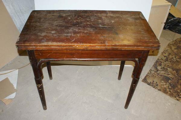 Ломберный стол тонет до реставрации