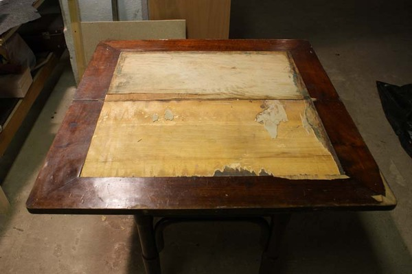 Реставрация ломберного столика, Примеры работ реставратора мебели