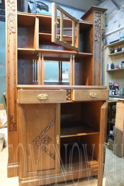 Буфет модерн мебель из дуба, реставрация старинной мебели в спб, реставратор санкт-петербург