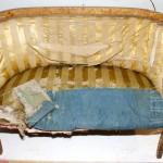 Реставрация дивана карельской березы.