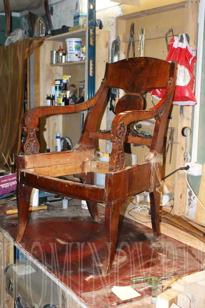 кресло ампир xix века до реставрации
