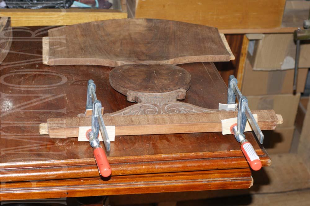 Реставрация спинки кресла ампир классицизм