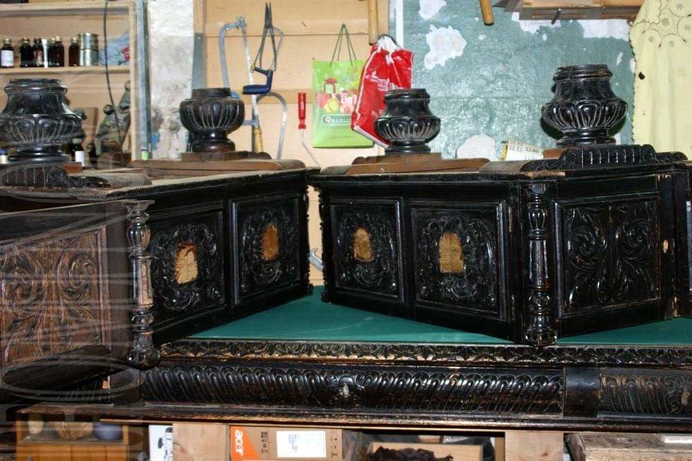 Реставрация письменного стола в петербурге. Стол до реставрации.
