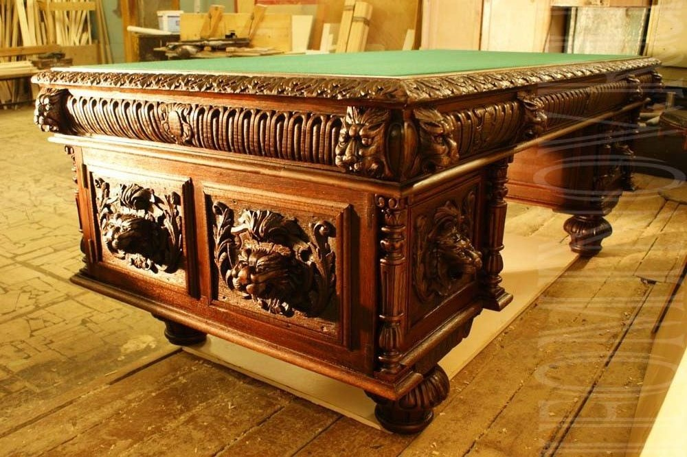 реставрация письменного стола, Мастерская реставратора антикварной мебели
