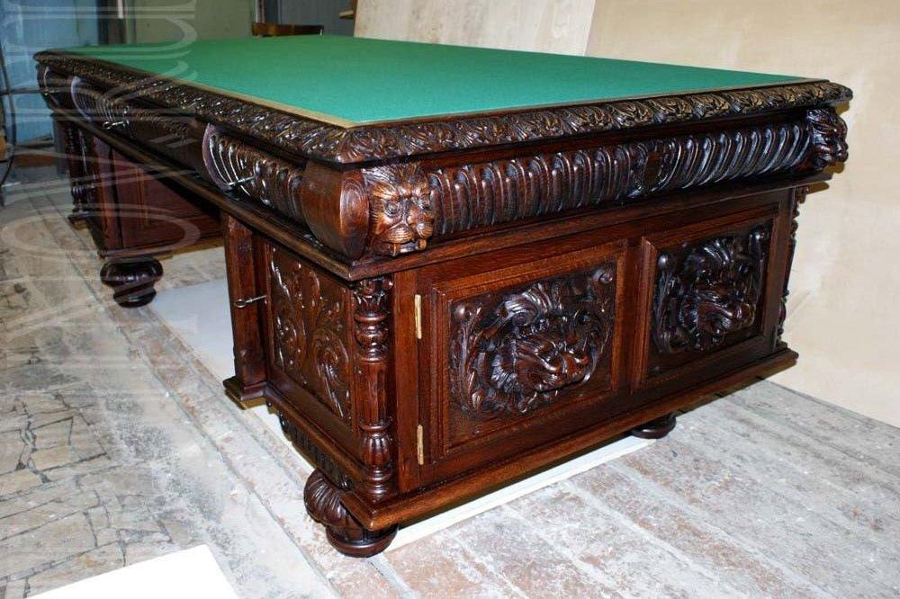 пример реставрации письменного стола. Из портфолио реставратора.