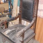 Большое кресло трон до реставрации