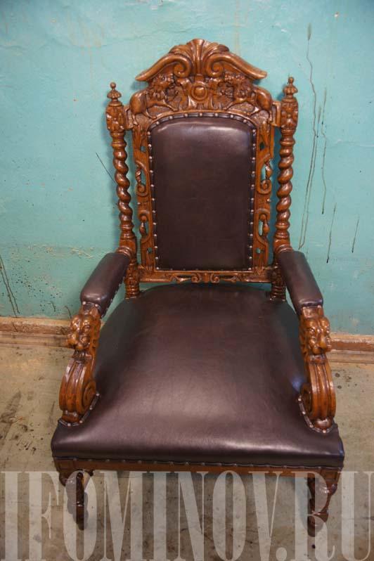 Кресло трон после реставрации
