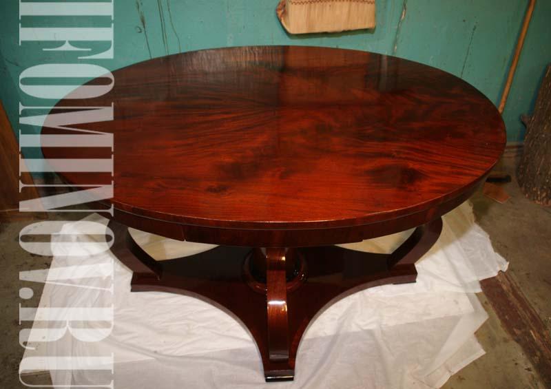 Полировка шеллаком стола красного дерева