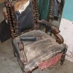 Состояние кресла трона до реставрации