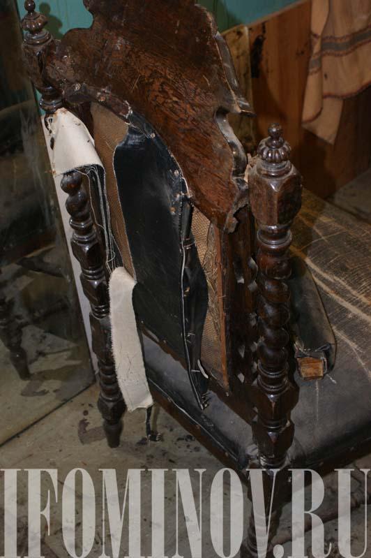 Отреставрировать кресло трон
