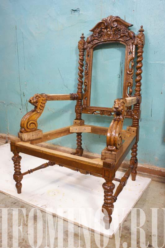 Кресло готово к обойным работам