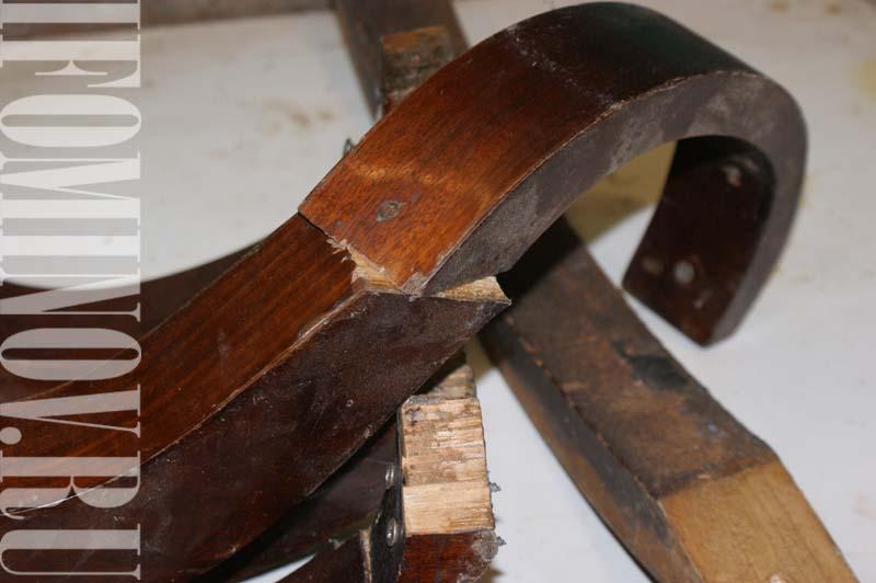 Состояние опор стола до реставрационных работ