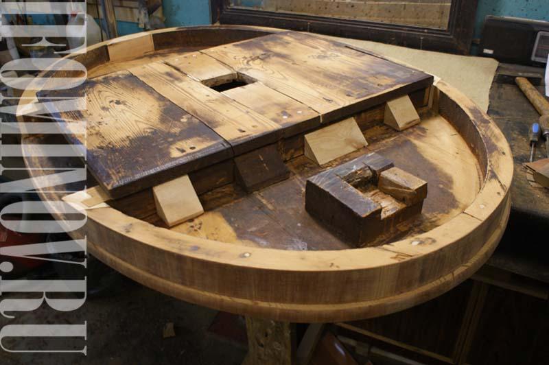 Конструкции круглого антикварного стола