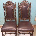 Два стула после реставрации мебели, реставратор СПб автово