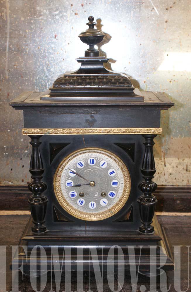 Реставрация корпуча настольных часов.