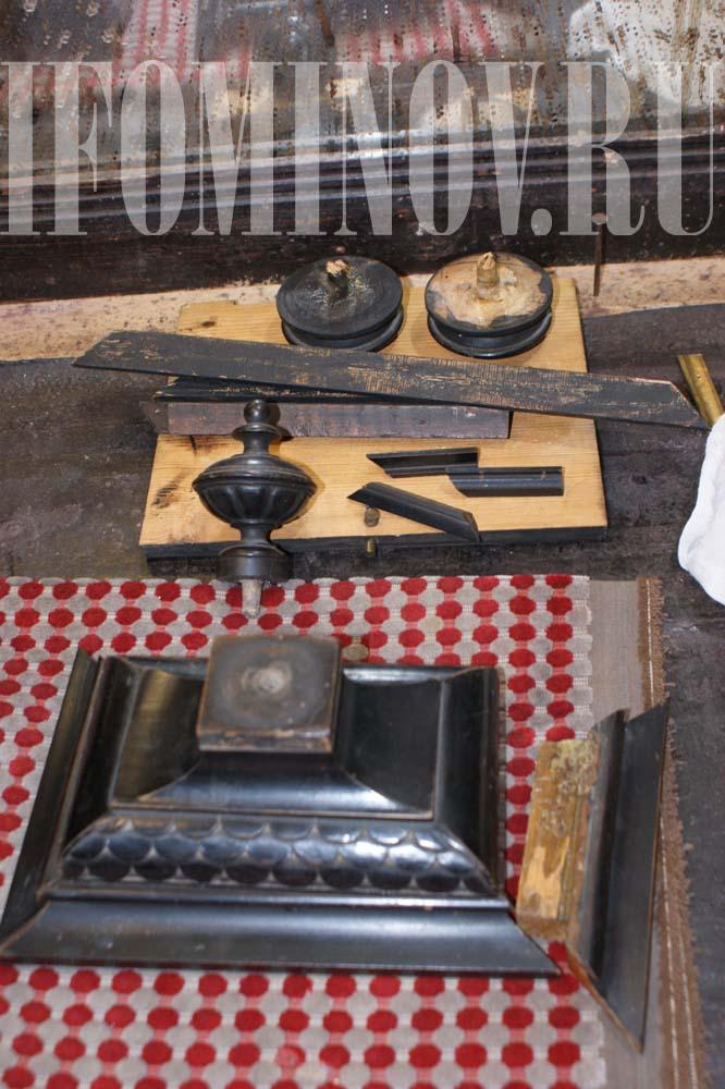 Детали корпуса старинных часов, токарные работы, декор