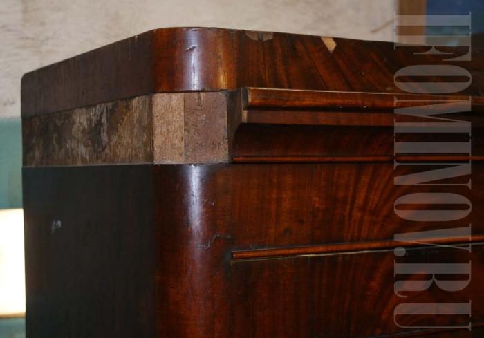 Восполнение утраченных деталей, ремонт антикварной мебели