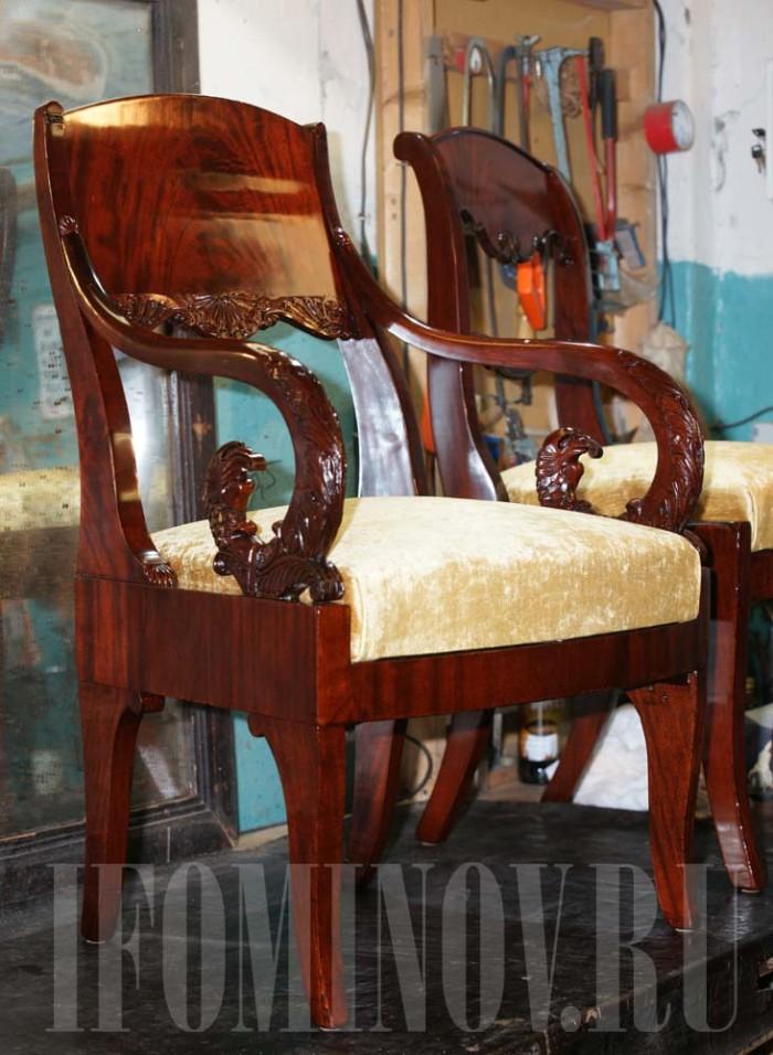 Пример реставрации мебели СПб