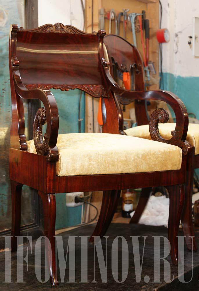Кресло в стиле ампир продажа