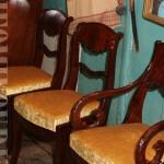 Пример реставрации стульев красное дерево до и после фото