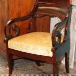 Отреставрировать кресло ампир
