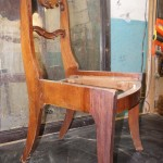 замена шпона антикварная мебель стул