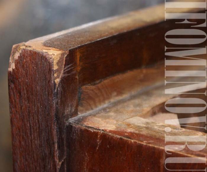 как приклеить заменить шпон ремонт мебели