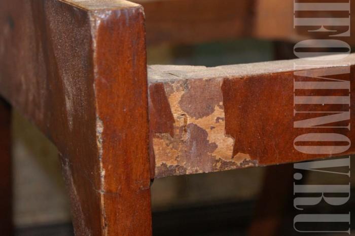 Как заменить наклеить шпон антикварная мебель стул